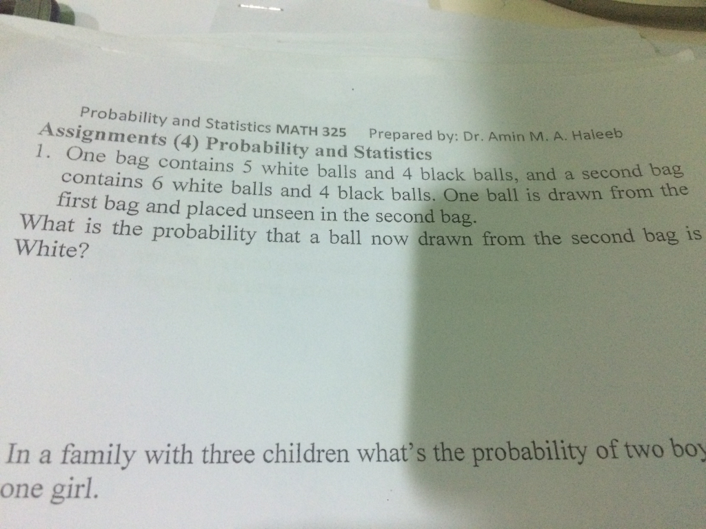 Solved: Probability And Statistics MATH 325 Prepared By: D ...