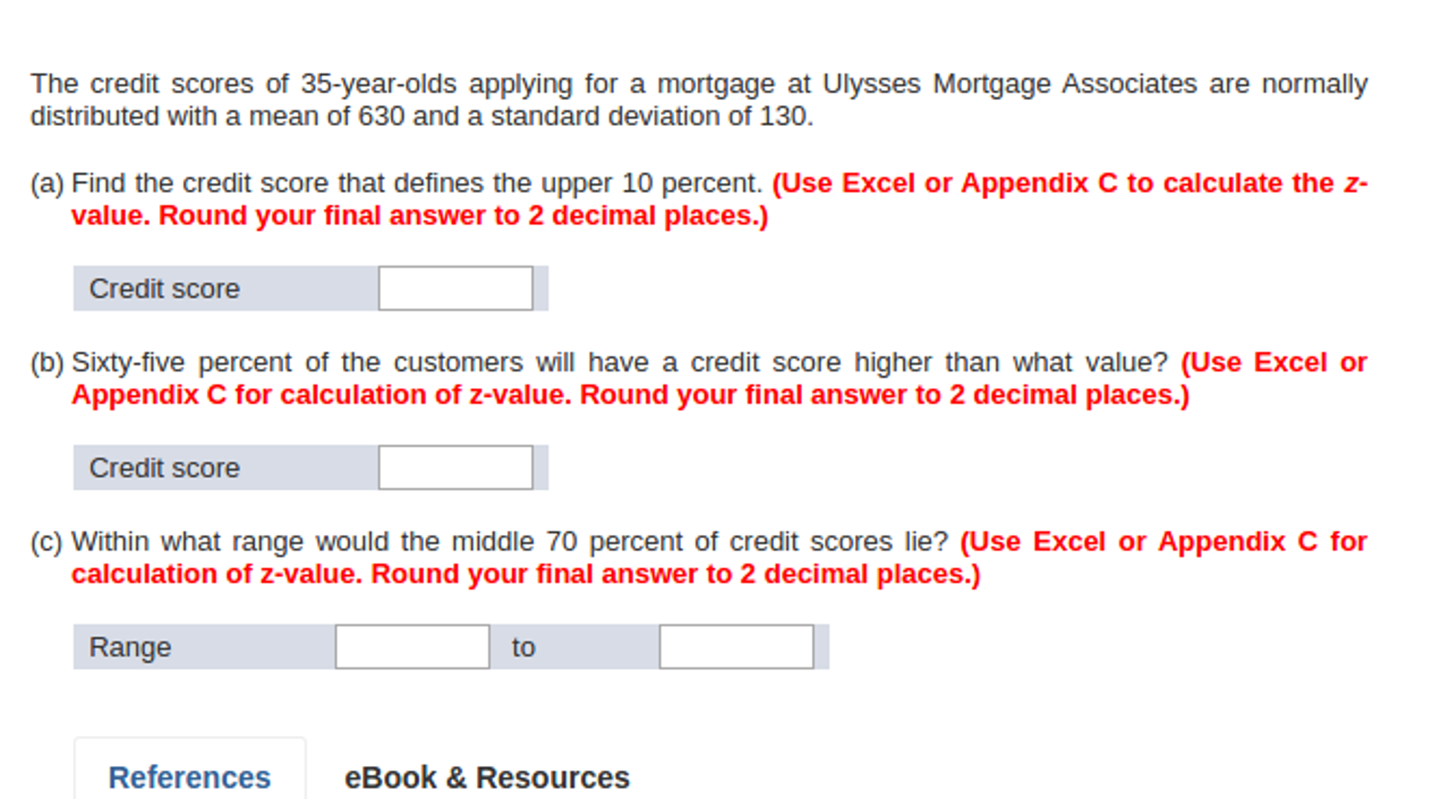 solved the credit scores of 35 year olds applying for a m