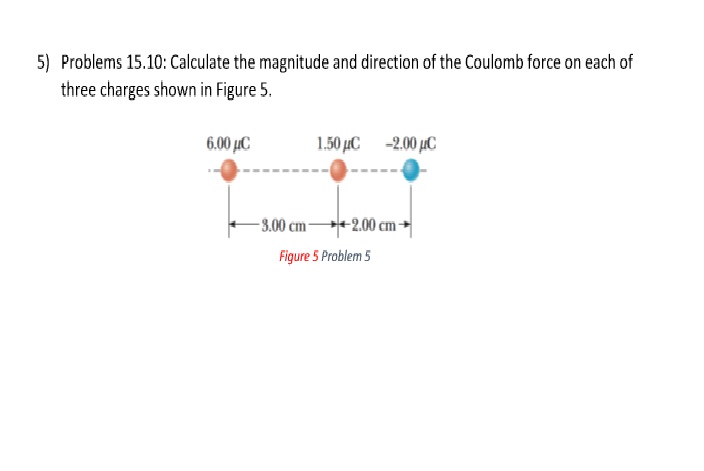 Solved: calculate the magnitude and direction of the coulo.