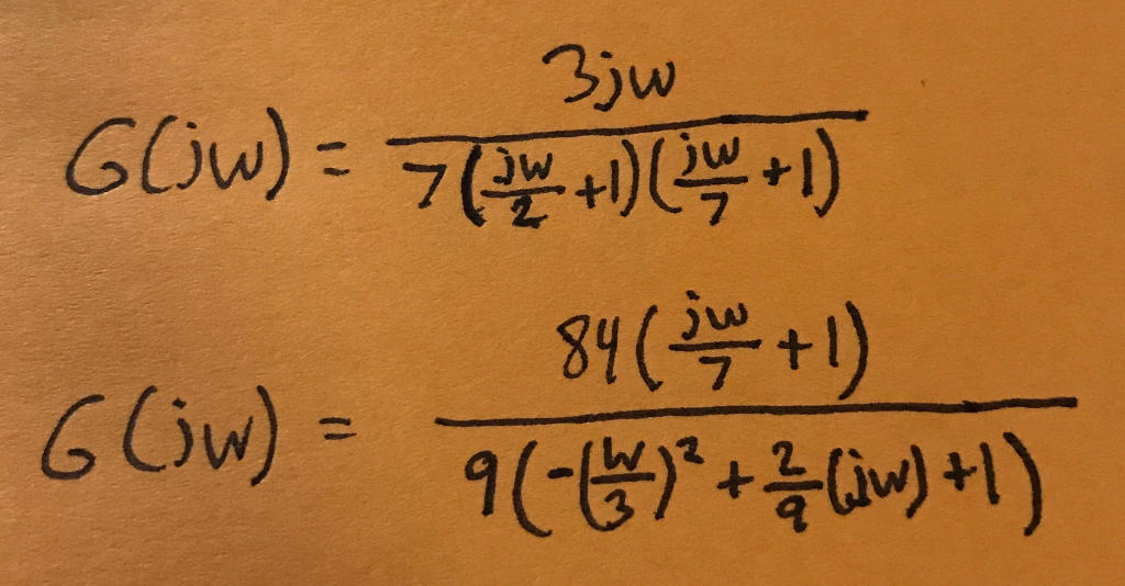 Solved: Draw Bode Plots For The Following Frequency Respon