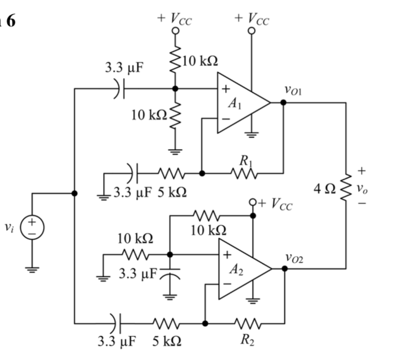 Solved The Circuit Shown Is A High Power Subwoofer Amplif