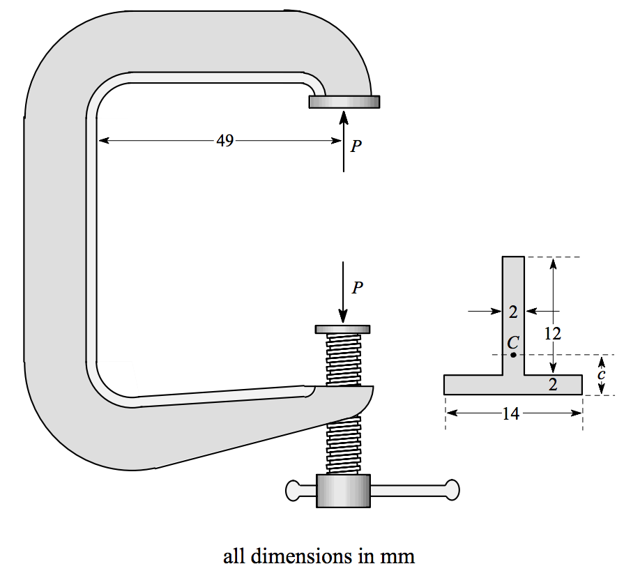 Solved: The Figure Shows The Design Of A C-clamp That Is L