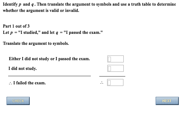 Solved Identify P And Q Then Translate The Argument To S