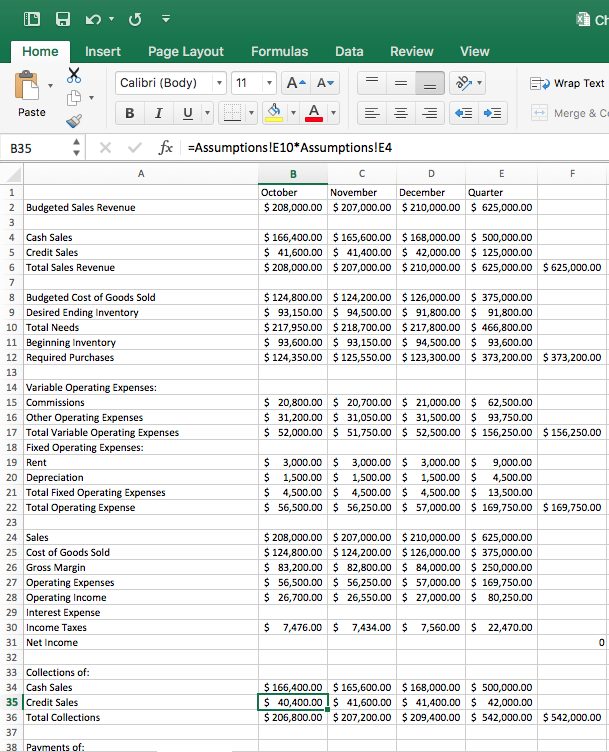 Solved Acc 2362 Managerial Accounting Excel Project 3