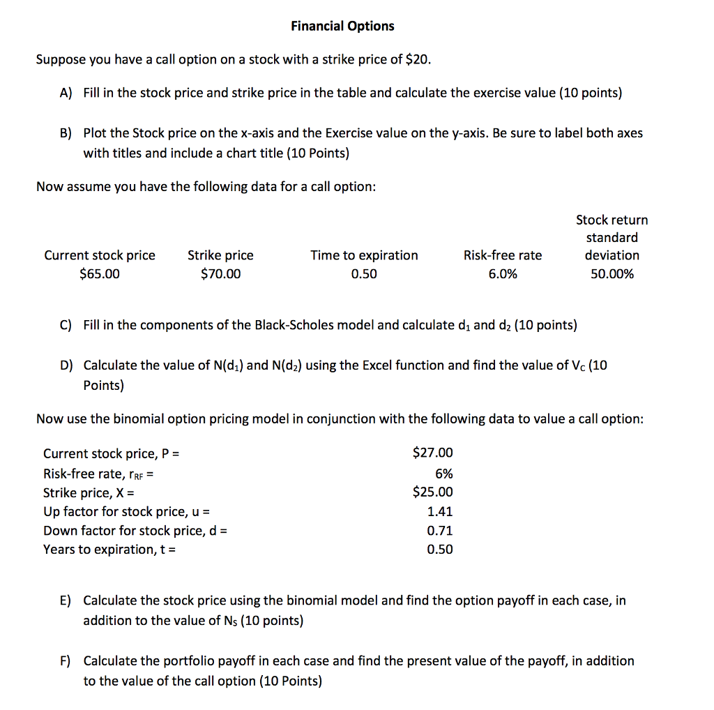 Value of stock options calculator