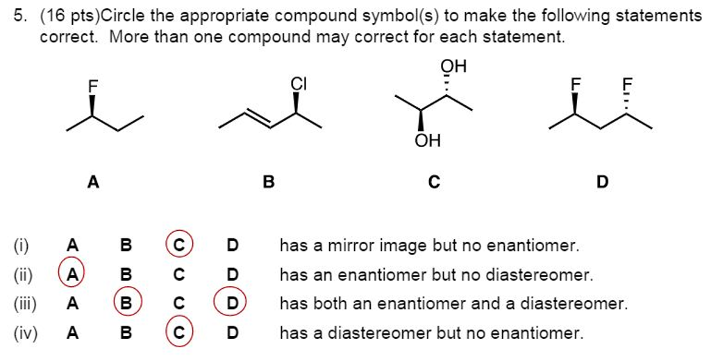 Solved Circle The Appropriate Compound Symbols To Make