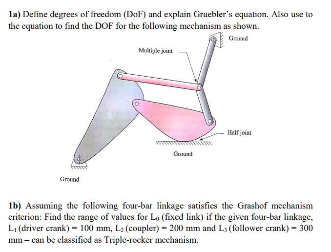 la define degrees of freedom dof and explain grueblers equation also use