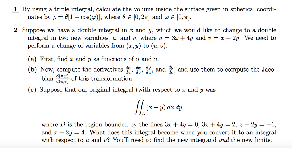 Solved: By Using A Triple Integral, Calculate The Volume I