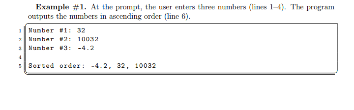 Solved: Sorting 3 Numbers  Write A Python Program (called