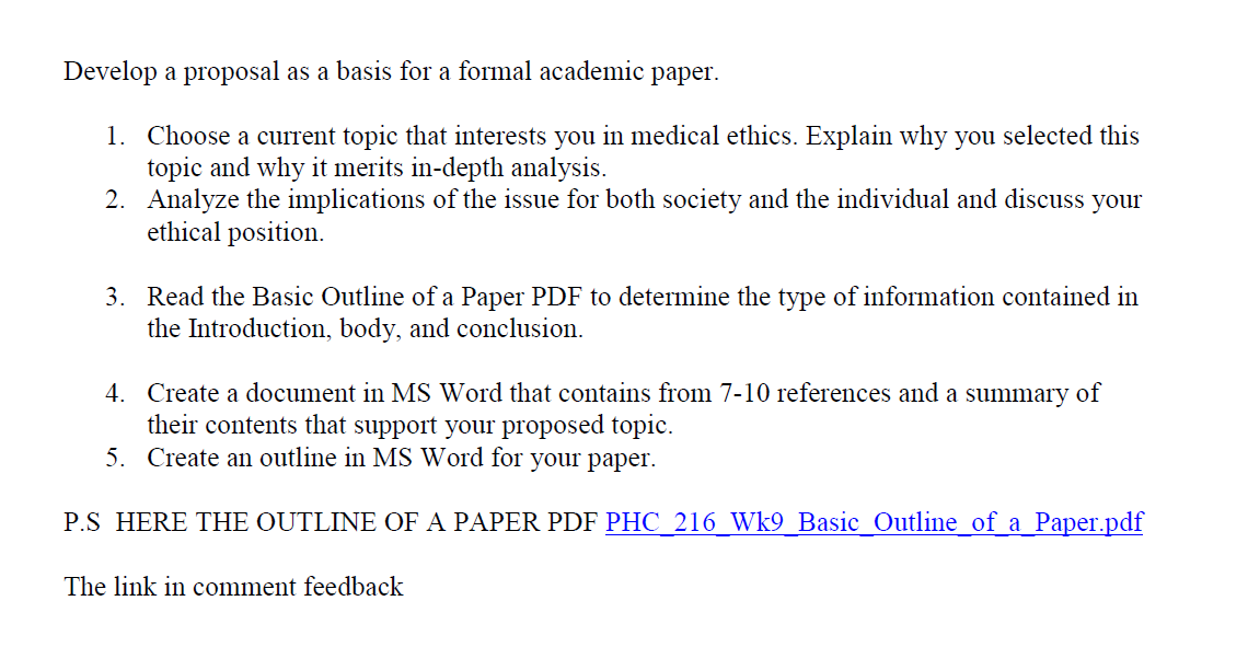 issue proposal paper
