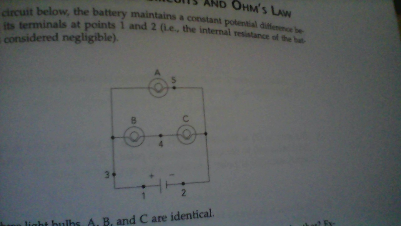 Solved 1 In The Circuit Below Battery Maintains A C Circuits With Multiple Batteries Please Answer Tho Cheggcom Constant Potential