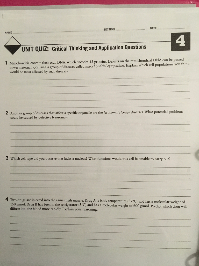 critical thinking quiz questions