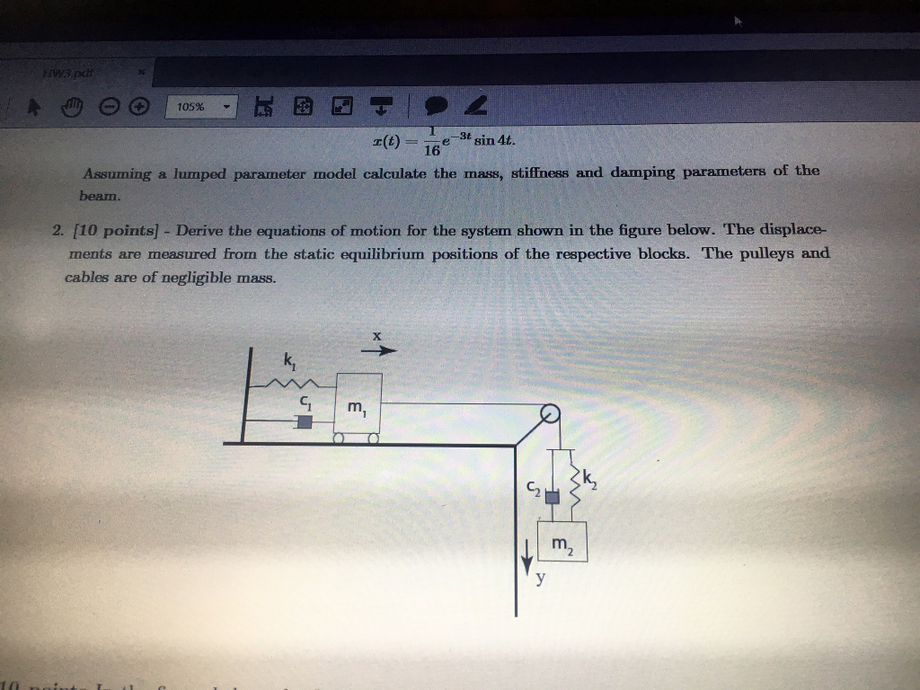 Solved: Derive The Equations Of Motion For The System Show