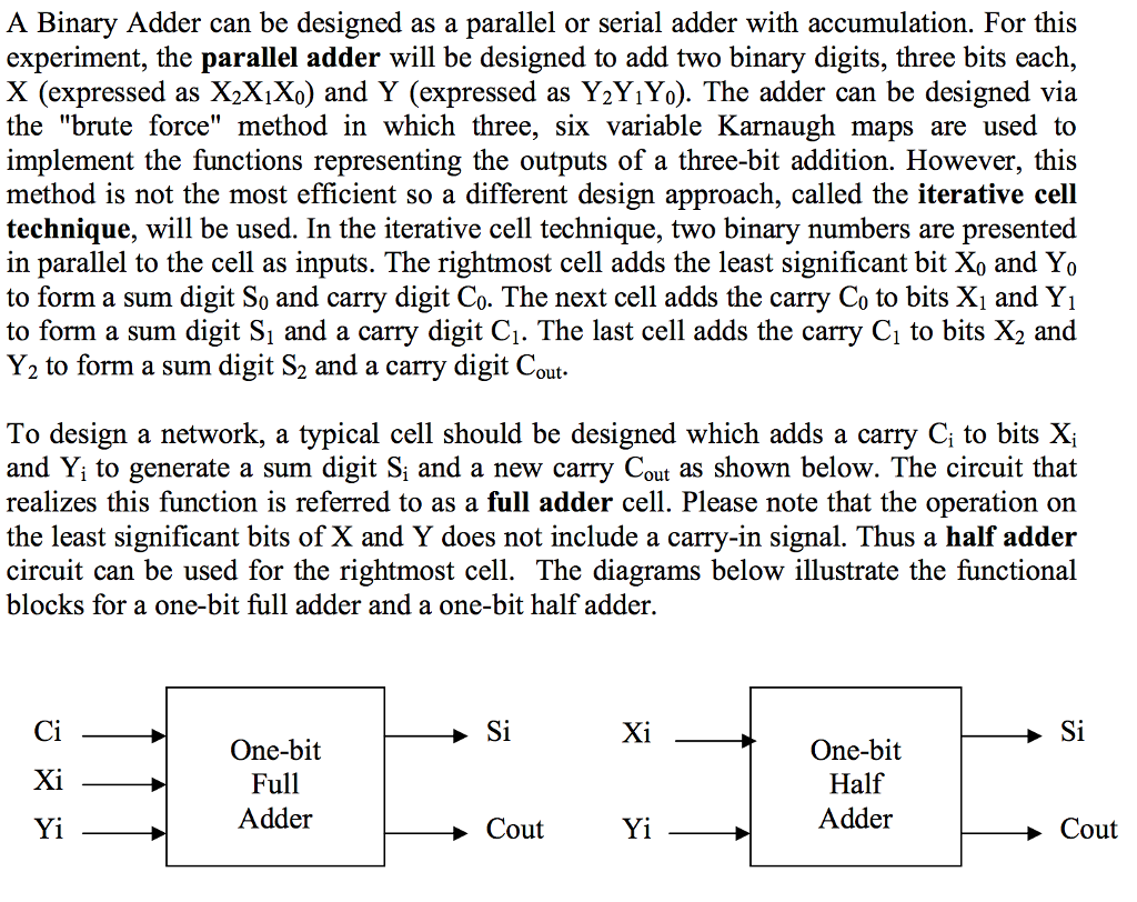 Solved Design A Three Bit Adder Circuit Using Half Logic Diagram Prepare The Full Schematic With Operators And Write Verliog Code Of Complete