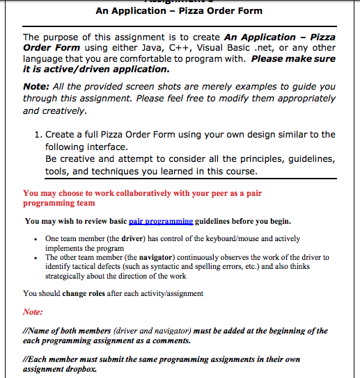 An Application Pizza Order Form The Purpose Of T Cheggcom - Create your own order form free