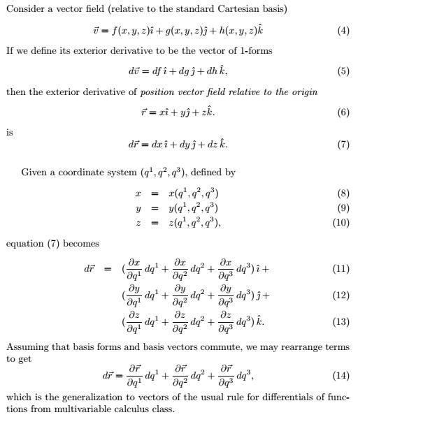 Consider A Vector Field (relative To The Standard Cartesian Basis) U U003d F(
