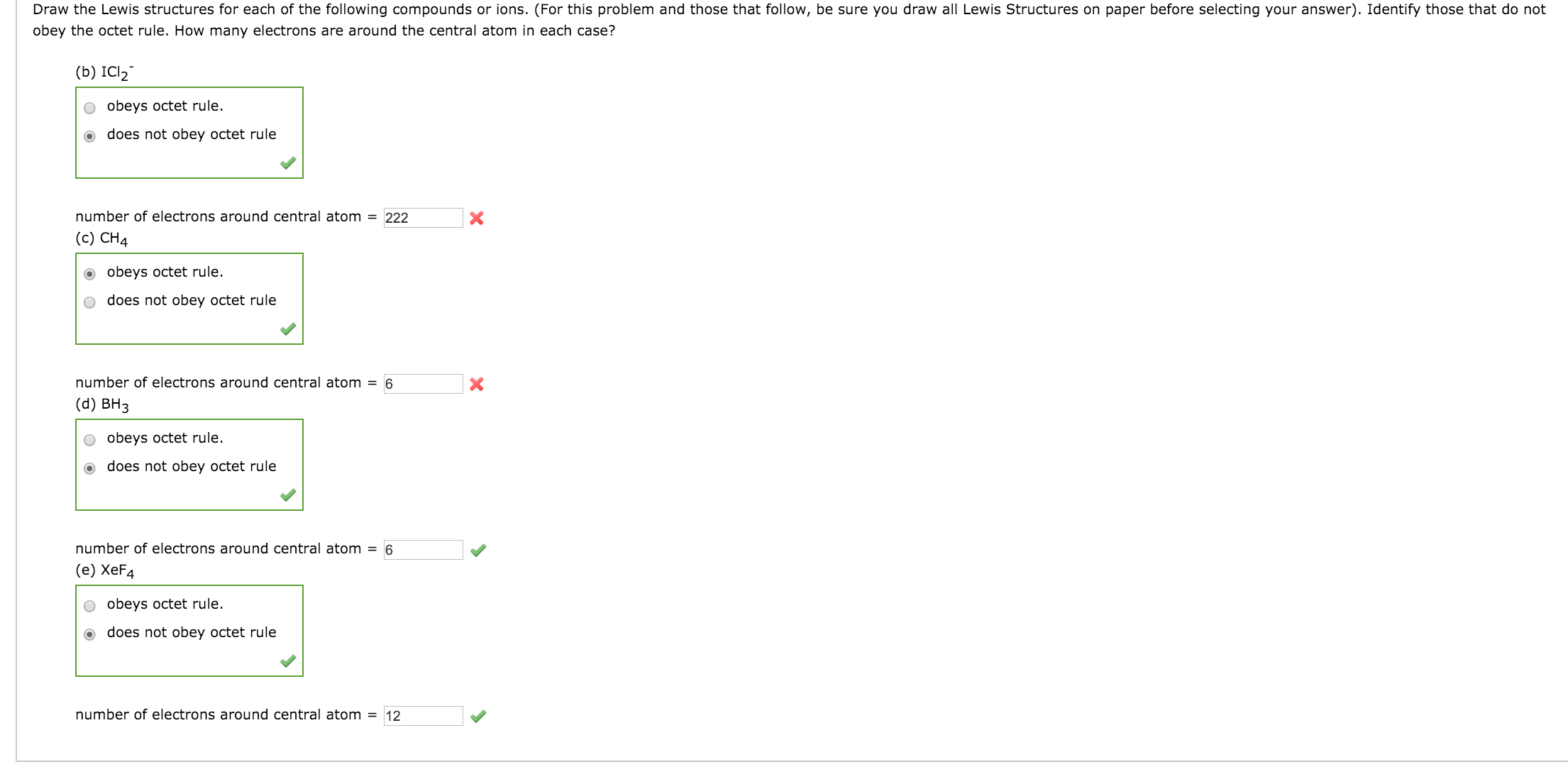 Solved Draw The Lewis Structures For Each Of The Followin Chegg Com
