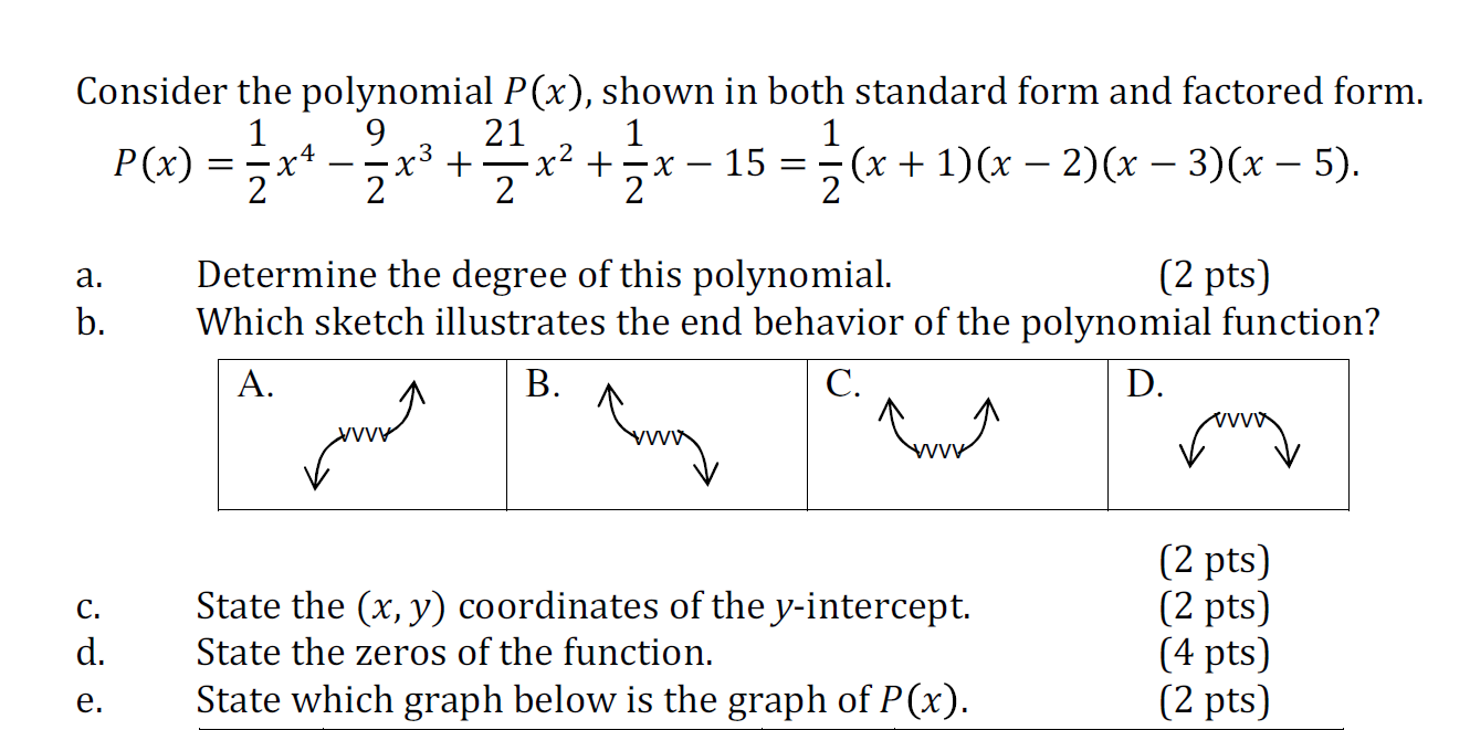 Consider the polynomial px shown in both standa chegg consider the polynomial px shown in both standard form and factored form falaconquin