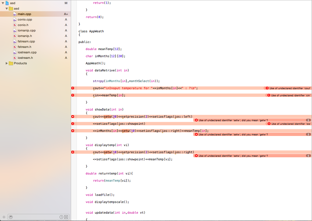 Solved: C++ Help Xcode #include