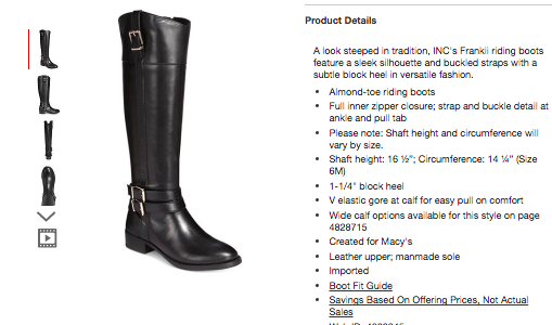 Html code for product review webdite sample outpu chegg product details a look steeped in tradition incs franki riding boots feature a s eek silhouette template code maxwellsz