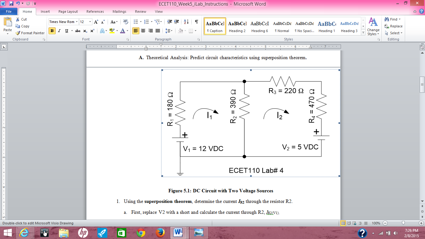 Solved Figure 51 Dc Circuit With Two Voltage Sources Us Calculations