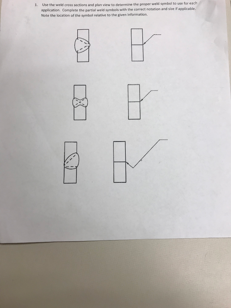 Solved Er Weld Symbol To Use For Each Application Comple
