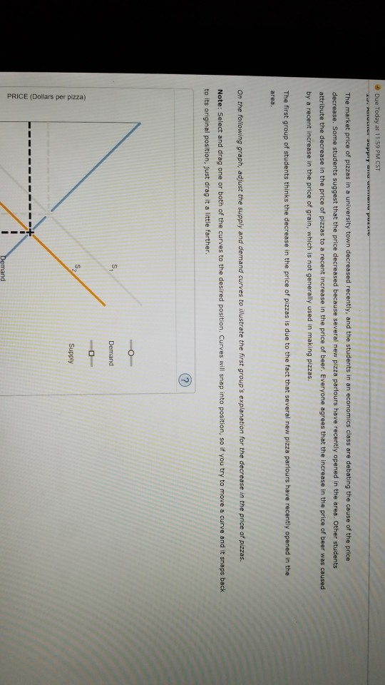 Economics archive january 28 2018 chegg due today at 1 159 pm cst the market price of pizzas in a fandeluxe Images