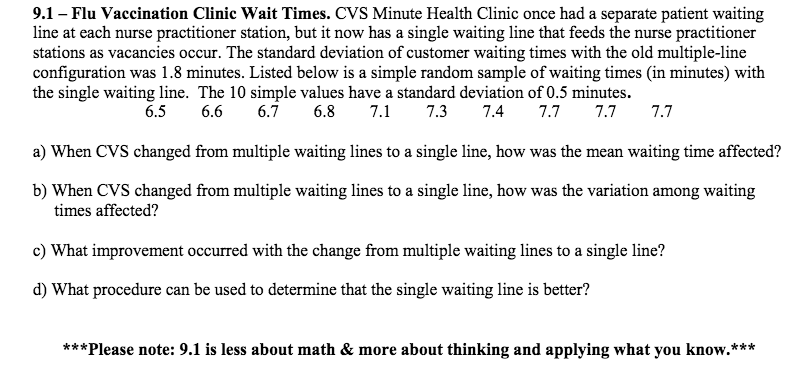 91 Flu Vaccination Clinic Wait Times CVS Minute Health Once Had A Separate
