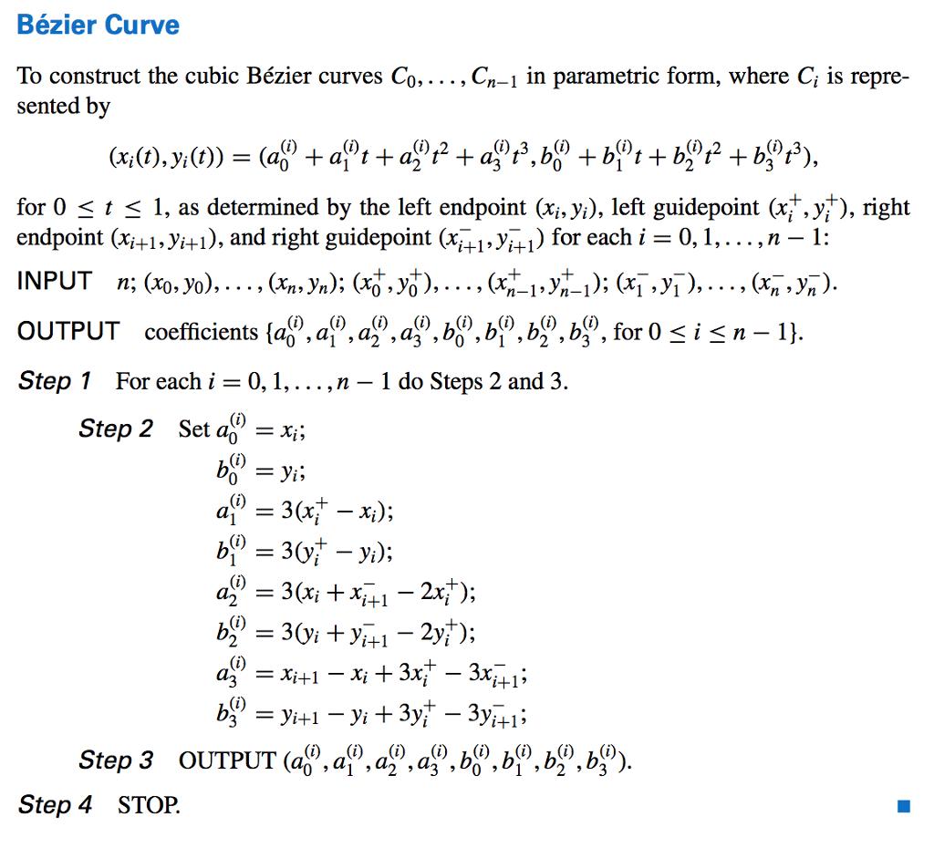 Numerical Analysis 9th Edition 3 6 Parametric Curv    | Chegg com