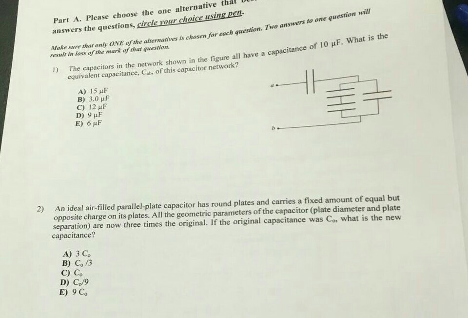 solved part a please choose the one alternative thal du