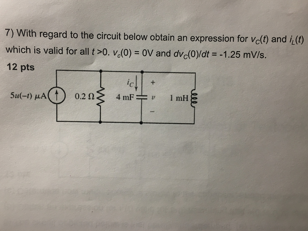 7 With regard to the circuit below