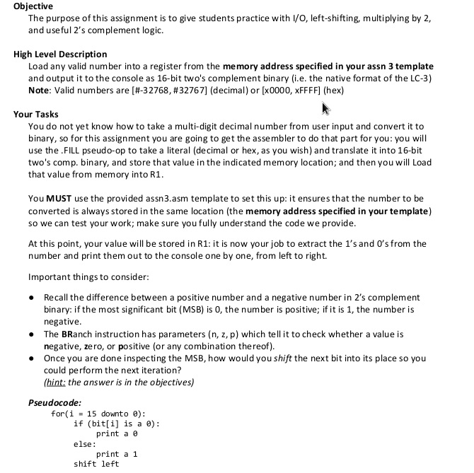 Solved: LC-3 ASSEMBLY LANGUAGE CODE TEMPLATE:  ORIG X3000