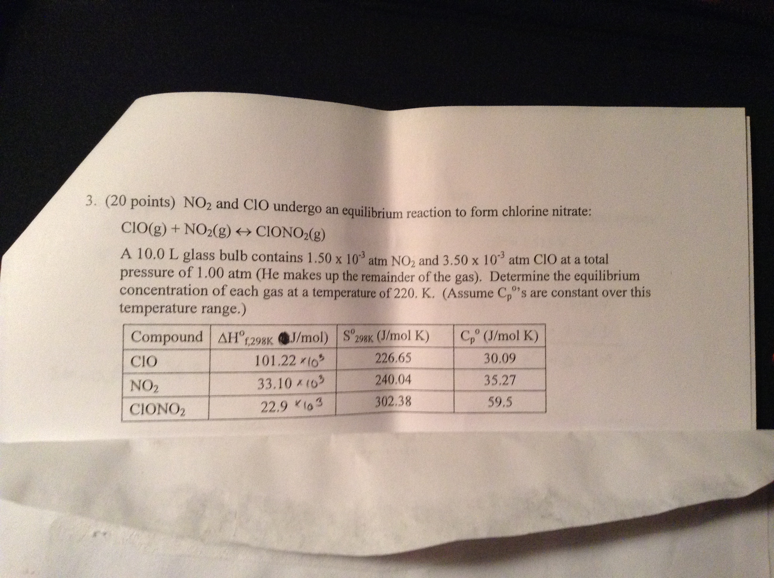 Chemistry question | Chegg com