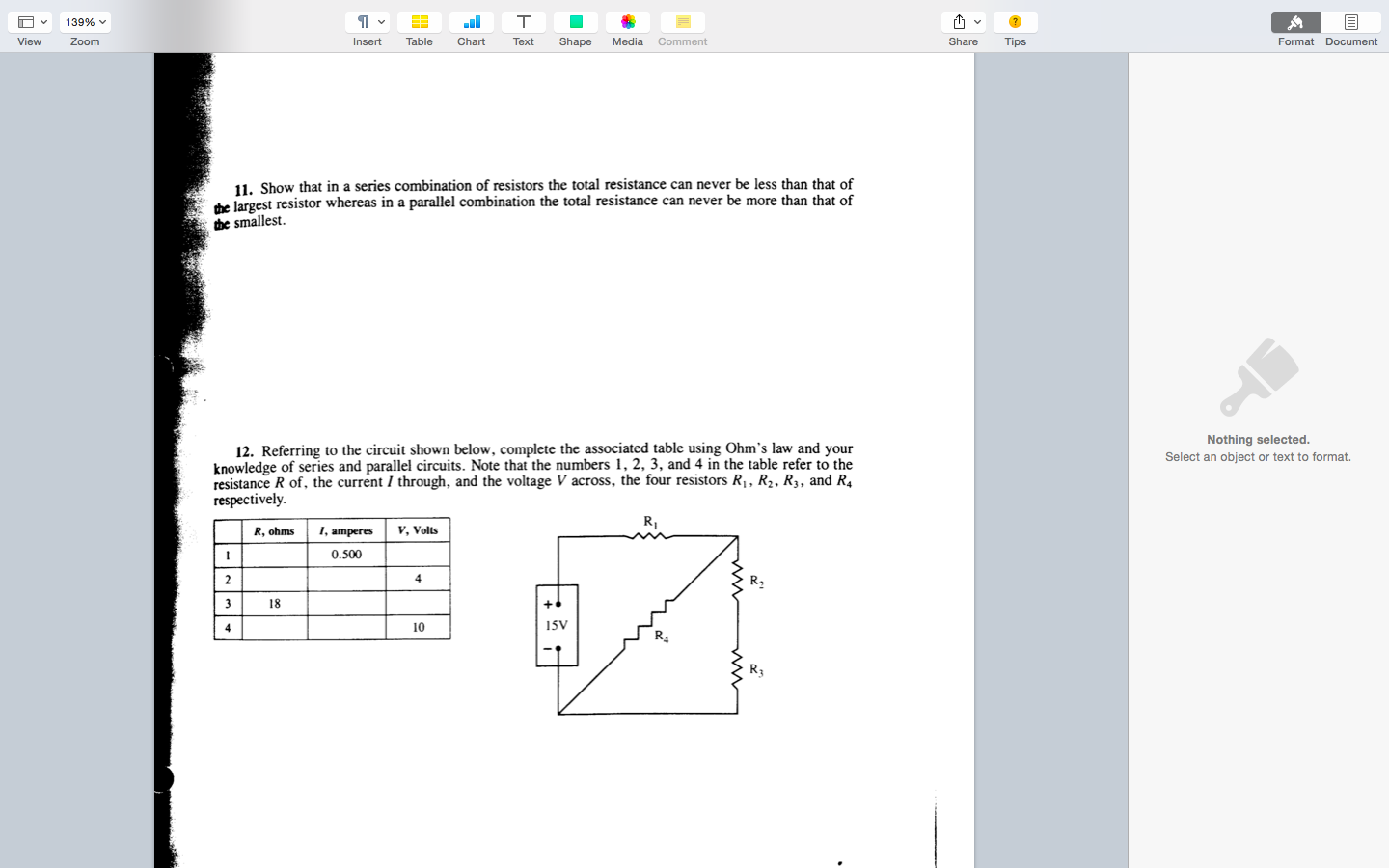solved show that in a series combination of resistors the