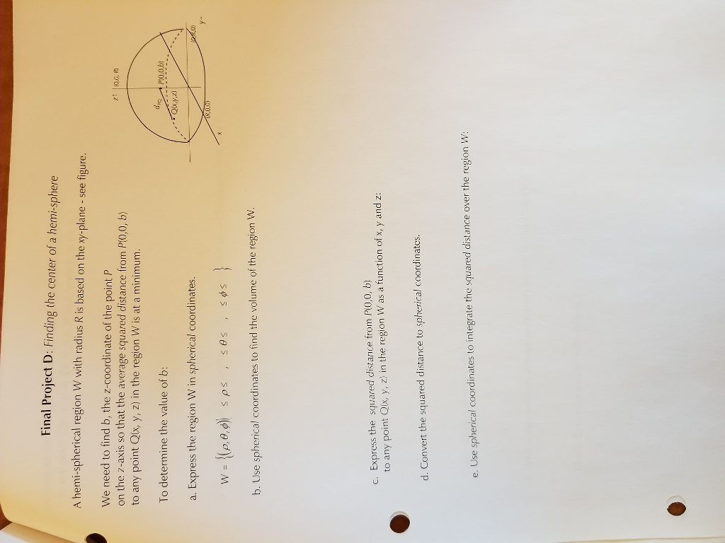20150921 Section 55 Calculating Area Support Questions 1 Final Project D: Finding  The Center Of A Hemi Sphere A Hemispherical Region
