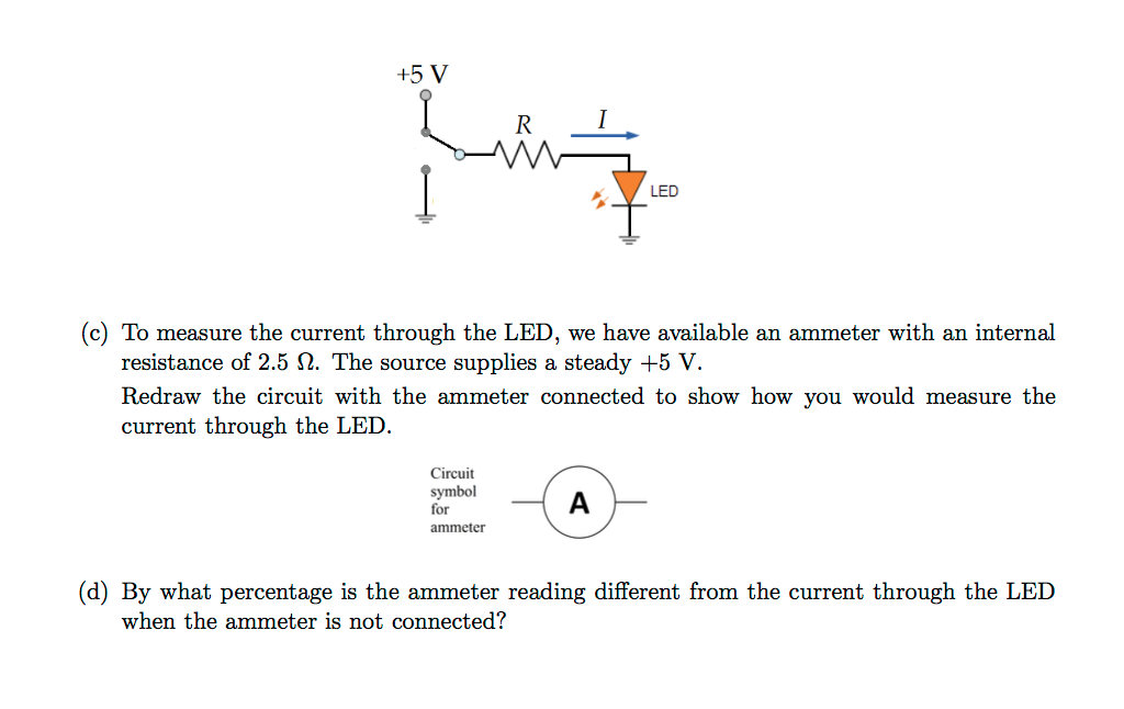 Solved 3 Led Circuit Iv Current Voltage Curves For A
