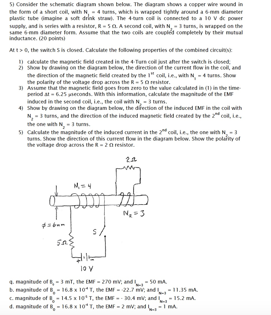 Colorado Form 104: Solved: Consider The Schematic Diagram Shown Below. The Di
