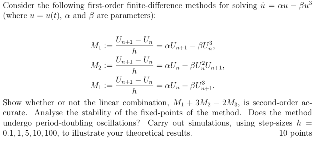 Write Matlab Code For The Finite Difference Method    | Chegg com