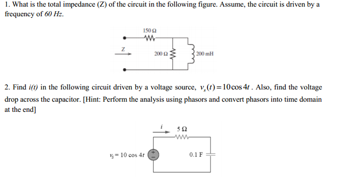 how to find the impedance of a series circuit