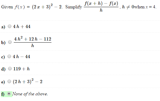 solved given f x 2x 3 2 2 simplify f x h f x h