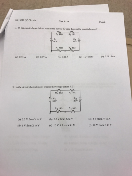 Solved In The Circuit Shown Below What Is The Current Fl