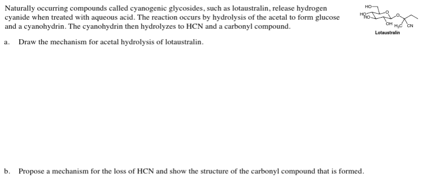 Solved: Naturally Occurring Compounds Called Cyanogenic Gl
