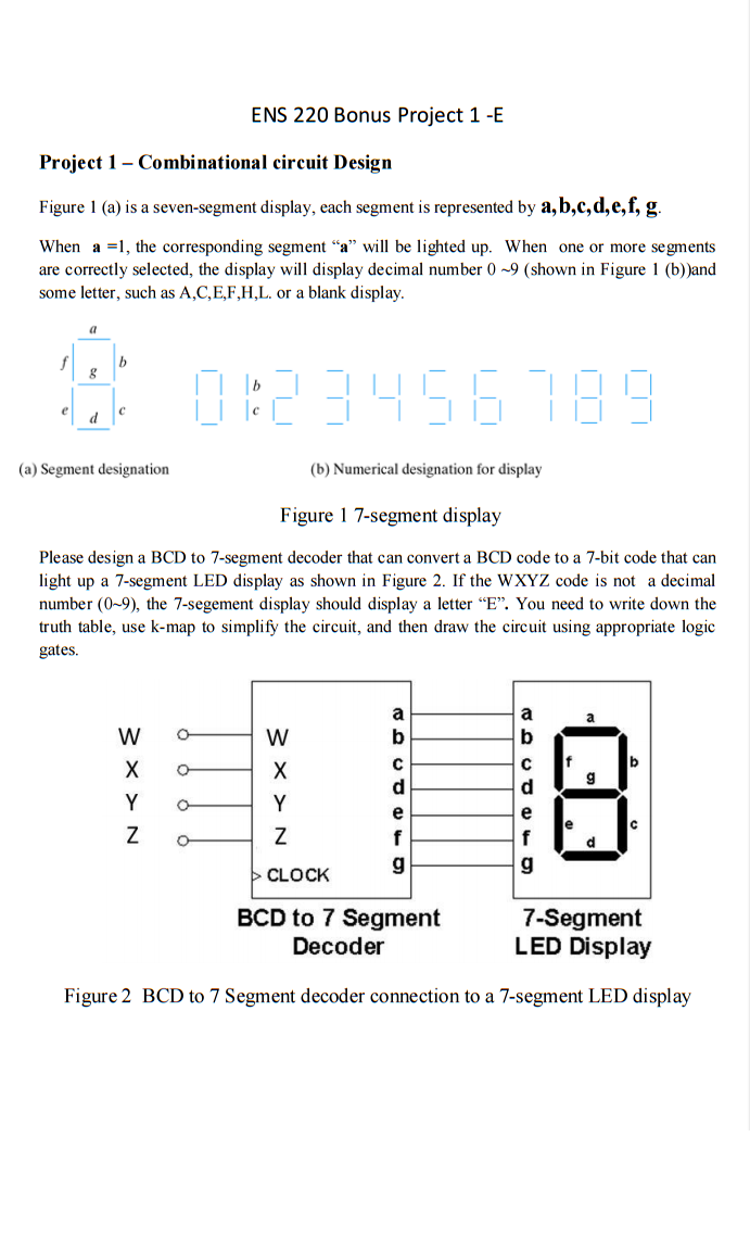 7 Segment Led Display Pcf8574 I2c Arduino Circuit Decoder Diagram Solved Combinational Design Is A Seven Di