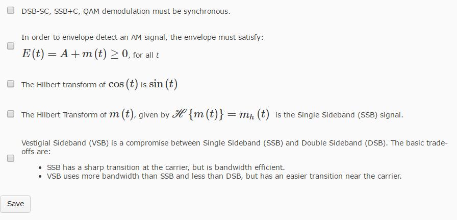 Solved: DSB-SC, SSB+C, QAM Demodulation Must Be Synchronou