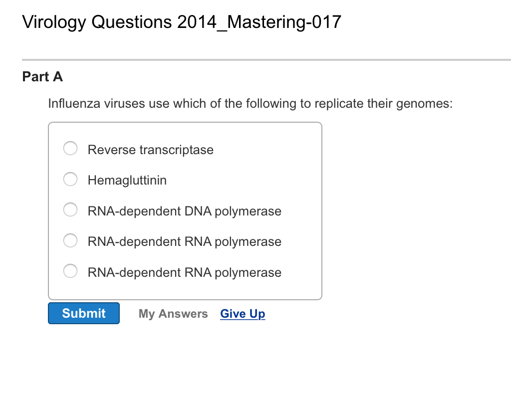 Solved: Virology Questions 2014_Mastering-014 Part A Ntegr