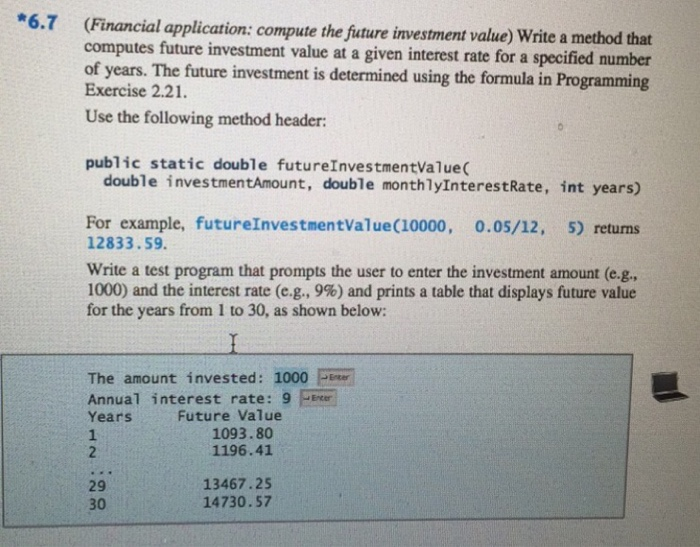 Solved 67 Financial Application Compute The Future In