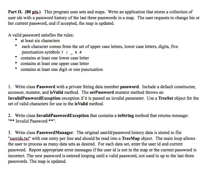 Java Program Using Eclipse I Need To Do The Final Chegg