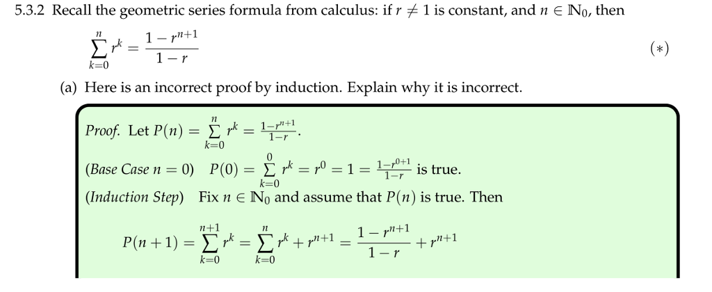 Solved: 5 3 2 Recall The Geometric Series Formula From Cal