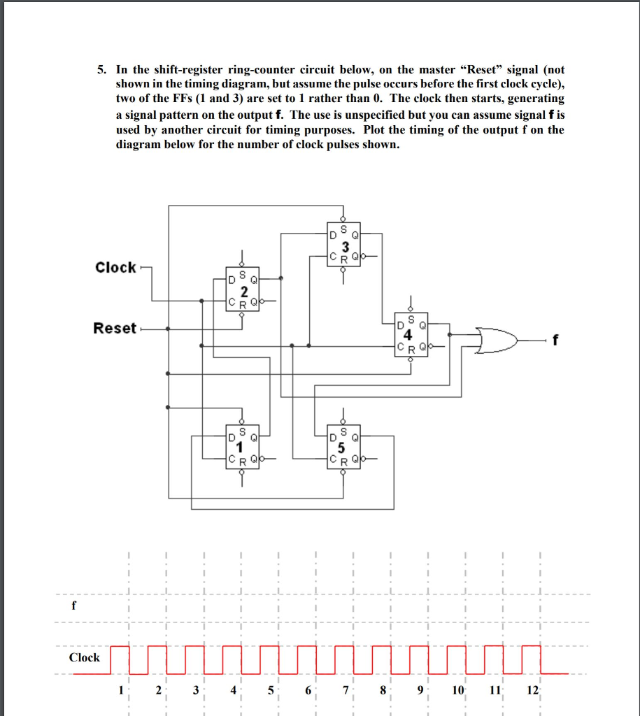 Prime Solved 5 In The Shift Register Ring Counter Circuit Belo Wiring 101 Capemaxxcnl