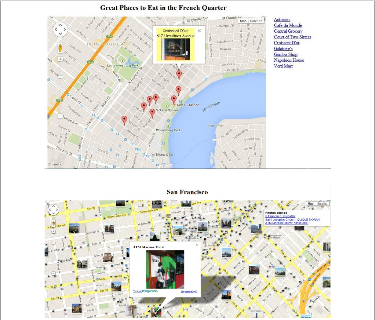 Solved Create A Google Map Program Using The Google Map J